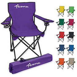 Custom imprinted Folding Chair with Carrying Bag