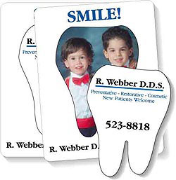 Custom imprinted Tooth Magnetic Picture Frame (3-1/2 x 4-1/2)