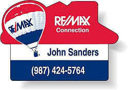 Custom imprinted Remax House Magnet (2-3/4 x 1-7/8)