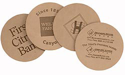 Custom imprinted Deluxe Branded Large Coasters