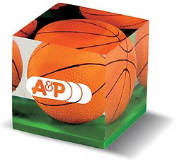 Custom imprinted Basketball Paperweight