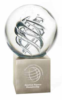 Custom imprinted Frosted Swirl - Large Award