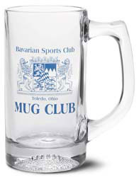 Custom imprinted Football Sports Stein