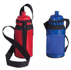 Custom imprinted Bottle Caddie with Bottle
