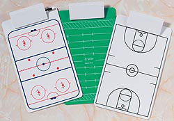 Custom imprinted Sports Clipboard with Jumbo Clip
