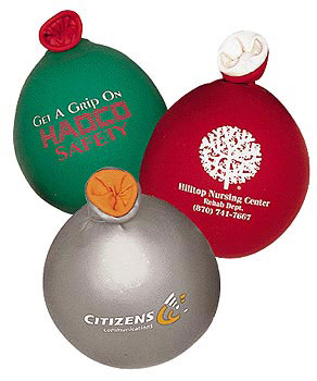Custom imprinted Color Top Stress Balloons