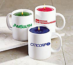 Custom imprinted Candle Mug
