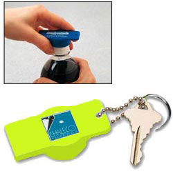 Custom imprinted Tab Popper with Bottle Opener