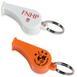 Custom imprinted Whistle Key Ring