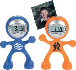 Custom imprinted Bendy with Clock & Message Clip