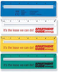 Custom imprinted Magnifying Ruler w/Colored Background