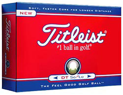 Custom imprinted Titleist  DT Solo Golf Ball