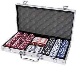 Custom imprinted Deluxe Poker Set (Promotional)