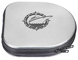 Custom imprinted Metal Zippered CD Case
