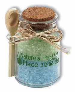 Custom imprinted Bath Crystals in a Jar