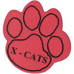 Custom imprinted Foam Paw Mitt - outlined