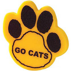 Custom imprinted Foam Paw Print - solid