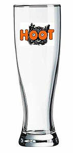 Custom imprinted 16 Ounce Pilsner Glass