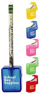 Custom imprinted Square Pencil Sharpener