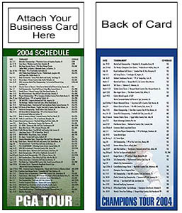 Custom imprinted Magnetic Golf Schedule - PGA / Champions Tour