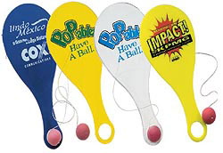 Custom imprinted Hi-Flyer Paddleball (assembled)