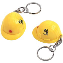 Custom imprinted Mini Hard Hat Keychain