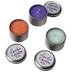 Custom imprinted Travel Candle Tin