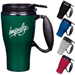 Custom imprinted Hemisphere Travel Mug w/ Closer Lid 16 oz