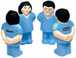 Custom imprinted CLOSEOUT Healthcare Worker Stress Ball