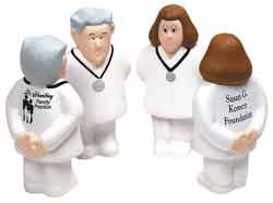 Custom imprinted CLOSEOUT Doctor Stress Ball