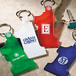 Custom imprinted CLOSEOUT Number 1 Key Holders