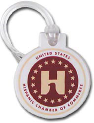 Custom imprinted Round Bag Tag
