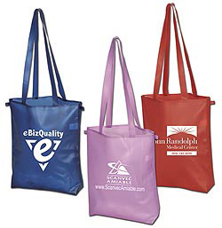 Custom imprinted CLOSEOUT Waterproof Reusable Grocery Tote