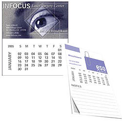 Custom imprinted Bic Business Card Magnet with Calendar