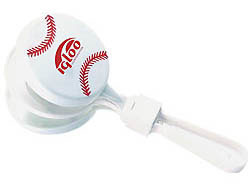 Custom imprinted Baseball Sport Clapper