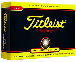 Custom imprinted Titleist NXT Tour Golf Balls