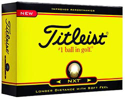 Custom imprinted Titleist NXT Golf Ball