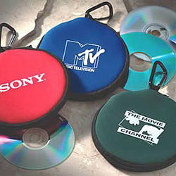 Custom imprinted Carabiner CD Case
