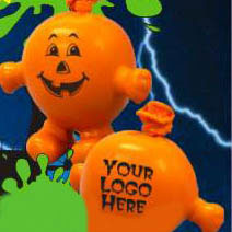 Custom imprinted Halloween Pumpkin Stress Pal