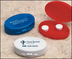 Custom imprinted Oval Pillcase