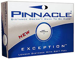 Custom imprinted Pinnacle Exception Golf Ball