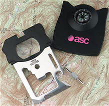 Custom imprinted Ultimate Survival Tool with Compass
