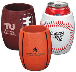 Custom imprinted Basketball Can Holder