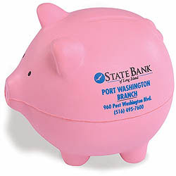 Custom imprinted Pig Stress Reliever