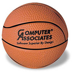 Custom imprinted Basketball Stress Reliever