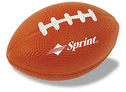 Custom imprinted Football Stress Reliever