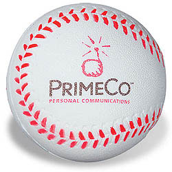 Custom imprinted Baseball Stress Reliever