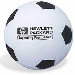 Custom imprinted Soccer Stress Reliever