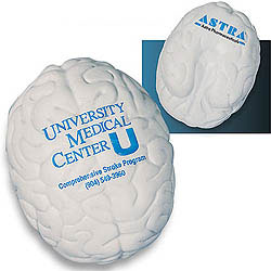 Custom imprinted Brain Stress Reliever