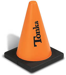 Custom imprinted Construction Cone Stress Reliever